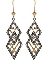 Annie Fensterstock - Double Diamond Earrings - Lyst