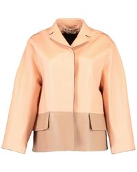 Marni - Two Tone Leather Jacket - Lyst