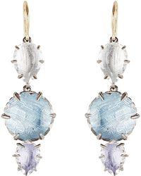Larkspur & Hawk | Caterina 3 Drop Earrings | Lyst