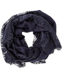 K. Janavi - Chantilly Border Shawl - Lyst