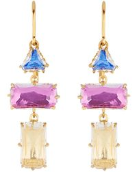Larkspur & Hawk - Caterina Baguette 3 Drop Earrings - Lyst