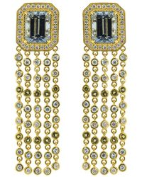 Buddha Mama - Aquamarine Fringe Earrings - Lyst