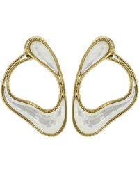 Fernando Jorge - Mother Of Pearl Stream Loop Earrings - Lyst
