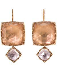 Larkspur & Hawk - Sadie Matched Double Drop Cushion Earrings - Lyst