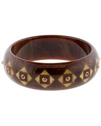 Mark Davis - Brown And Burgundy Bakelite Bangle - Lyst