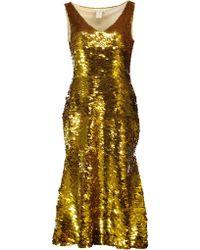 Oscar de la Renta - Flounce Dress - Lyst
