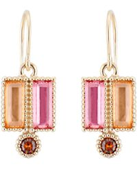 Larkspur & Hawk - Cora Double Baguette Drop Earrings - Lyst
