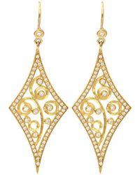 Annie Fensterstock - Diamond Shape Earrings - Lyst