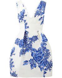 Monique Lhuillier - Rose Printed Dress - Lyst