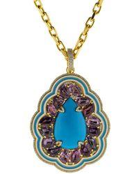 Buddha Mama - Sleeping Beauty Turquoise Pendant - Lyst