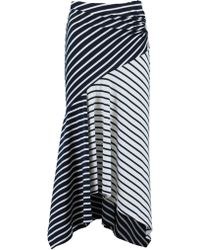 Peter Pilotto - Asymmetrical Striped Skirt - Lyst