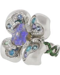 Katherine Jetter - Opal And Diamond Pave Mini Fleur Ring - Lyst
