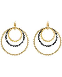 Nancy Newberg - Four Silver And Diamond Link Hoop Earrings - Lyst