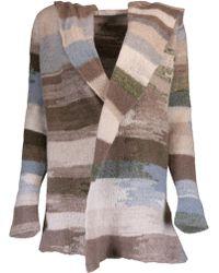 Casmari - Abstract Stripe Open Cardigan - Lyst