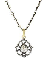 Sylva & Cie - Pear Shape Rough Diamond Pendant - Lyst