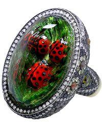 Sevan Biçakci - Carved Ladybug Ring - Lyst