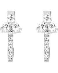 EF Collection - Diamond Trio Huggie Earrings - Lyst
