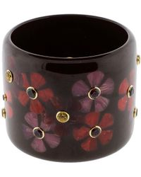 Mark Davis - Burgundy Brown And Red Bakelite Bangle - Lyst