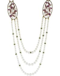 Wendy Yue - Rubellite And Pink Sapphire Pearl Necklace - Lyst