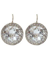 Andrea Fohrman - 15mm Rock Crystal And Sapphire Earrings - Lyst