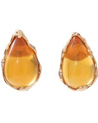 Lucifer Vir Honestus - Fire Opal And Diamond Earrings - Lyst