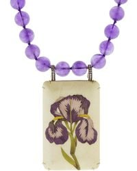 Silvia Furmanovich - Marquestry Purple Bead Flower Necklace - Lyst