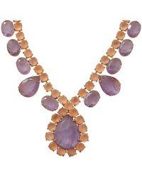 Bounkit - Amethyst Rose Quartz Necklace - Lyst