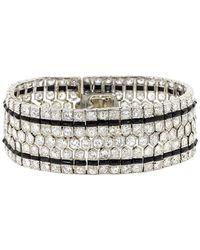 Fred Leighton - Art Deco Diamond And Onyx Honeycomb Bracelet - Lyst