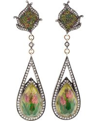 Sevan Biçakci - Carved Tulip Mosaic Earrings - Lyst