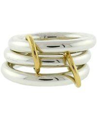 Spinelli Kilcollin - Mercury Sg Three Link Rings - Lyst