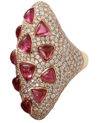 Inbar - Rubelite And Diamond Ring - Lyst