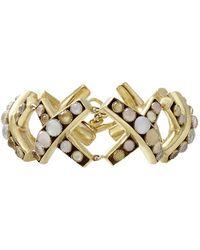 Vaubel - Round Stone X Bracelet - Lyst