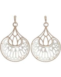 Inbar - Mother Of Pearl Fan Earrings - Lyst