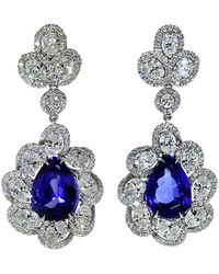 Inbar - Tanzanite And Diamond Earrings - Lyst