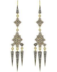 Sylva & Cie - Champagne Diamond Tassel Earrings - Lyst