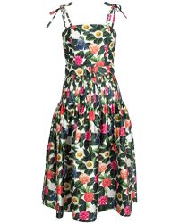 Oscar de la Renta - Flower Jungle Dress - Lyst