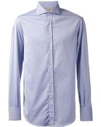 Brunello Cucinelli - Spread Collar Solid Shirt - Lyst