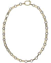 Nancy Newberg - Black Diamond Oval Link Necklace - Lyst