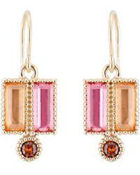 Larkspur & Hawk - Cora Double Baguette Drop Earrings - Lyst