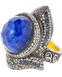 Sevan Biçakci - Carved Lotus Flower Ring In Rock Quartz - Lyst