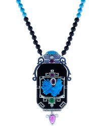 Wendy Yue - Turquoise And Black Jade Necklace - Lyst