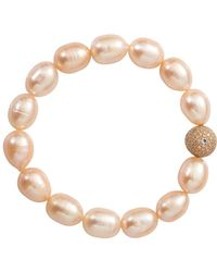 Jordan Alexander | Pearl And Diamond Bead Bracelet | Lyst
