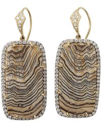 Pamela Huizenga - Fossilized Sequoia Earrings - Lyst