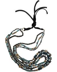 Royal Nomad Jewelry - Three Strand Labradorite And Aquamarine Necklace - Lyst