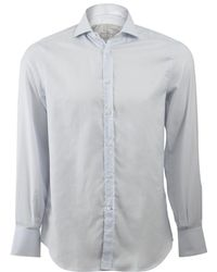 Brunello Cucinelli - Window Pane Spread Collar Shirt - Lyst