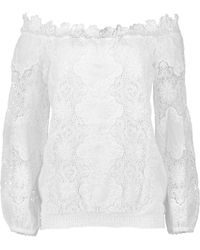 Temptation Positano - Lace Off Shoulder Nias Top - Lyst
