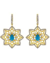 Buddha Mama - Sleeping Beauty Turquoise Star Earrings - Lyst
