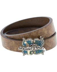 Sevan Biçakci - Turqoise Mosaic Double Wrap Leather Bracelet - Lyst