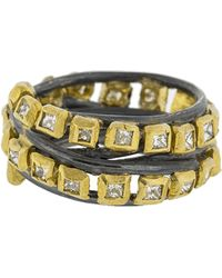 Boaz Kashi - Princess Diamond Wire Wrap Ring - Lyst