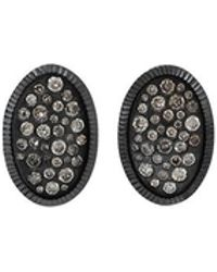 Todd Reed - Diamond Oval Stud Earrings - Lyst
